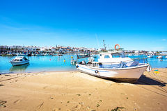 The harbor from Lagos in Portugal Royalty Free Stock Photos