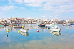 The harbor from Lagos in Portugal Stock Photography