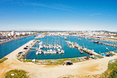 The harbor from Lagos in Portugal Stock Photos