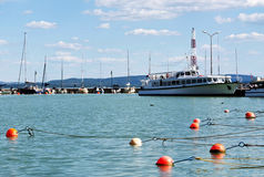 Harbor at Lake Balaton, Hungary Stock Images