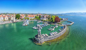 Harbor on Lake Constance in Lindau, Germany Stock Photography