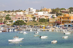 Harbor of Lampedusa Royalty Free Stock Photos