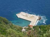 The harbor of Lastovo in Croatia Stock Images