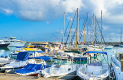 The harbor of Latchi Stock Image