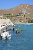 Harbor of Lentas on Crete Stock Photo