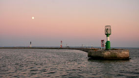 Harbor and lighthouse Royalty Free Stock Photography