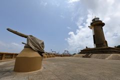 Harbor and lighthouse of Colombo in Sri Lanka Royalty Free Stock Photos