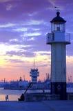 Harbor lighthouse Stock Image