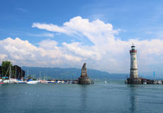 Harbor of Lindau Stock Image