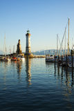 Harbor of Lindau, lake constance Stock Photography