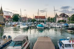 Harbor in Lindau, Lake Constance, Germany Royalty Free Stock Photos