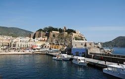 Harbor of Lipari. In the harbor of Lipari island, Sicily Stock Photo