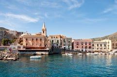 Harbor of Lipari. View of the harbor of Lipari island, Sicily Stock Photos