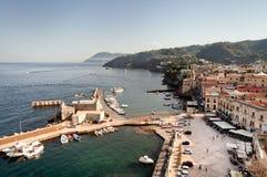 Harbor of Lipari. View of the harbor of Lipari island, Sicily Royalty Free Stock Photo