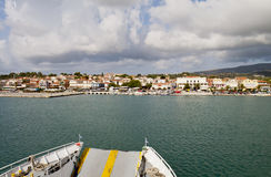 Harbor of Lixouri city in Greece stock image