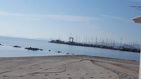 Harbor in Los Alcazares Murcia, Spain stock photo