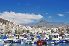 Harbor in Los Cristianos Stock Photography