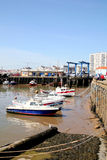 Harbor, low tide, Bridlington. Stock Photo