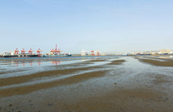 Harbor at Low Tide in Durban South Africa Stock Photos