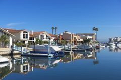 Harbor with luxury stock photo