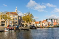 Harbor of Maassluis, The Netherlands. The harbor of Maassluis, The Netherlands on a sunny day Royalty Free Stock Photography