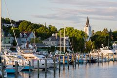 Harbor at mackinac Royalty Free Stock Image