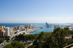 Harbor of Malaga Stock Photo