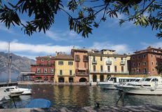 Harbor at Malcesine royalty free stock photo