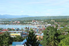 Harbor in Manokwari Royalty Free Stock Photos
