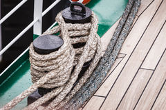 Harbor marina bolt with rope Royalty Free Stock Images