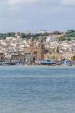 Harbor of Marsaxlokk, a fishing village in Malta. Stock Photo