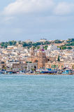 Harbor of Marsaxlokk, a fishing village in Malta. Royalty Free Stock Photo