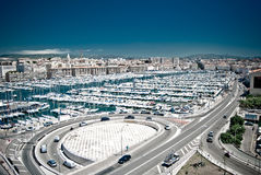 Harbor in Marseille Royalty Free Stock Photos
