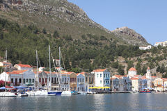 In the harbor of Megisti, Kastelorizo Royalty Free Stock Photos