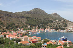 The harbor of Megisti, Kastelorizo Stock Images