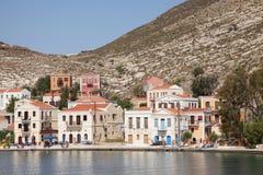 In the harbor of Megisti, Kastelorizo stock photo