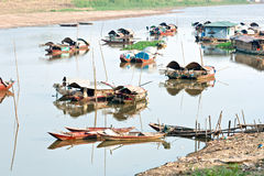 Harbor in the Mekong delta, Vietnam royalty free stock photo
