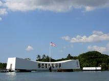 Harbor Memorial. Pearl Harbor memorial and USS Arizona in Hawaii Stock Photography