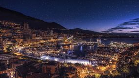 Harbor in Monaco. Sunrise on harbor of Monaco royalty free stock photos