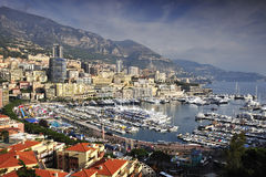 Harbor of Monaco. A view over the harbor of Monaco Royalty Free Stock Photo