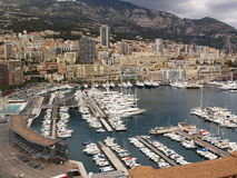 The harbor in Monte Carlo Royalty Free Stock Image