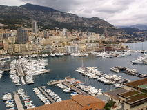 The harbor in Monte Carlo Stock Photo