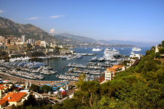 Harbor of Monte Carlo Stock Photography