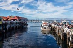 Harbor of Monterey. Harbor at Monterey Bay in California Royalty Free Stock Photo