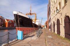 Harbor at Motlawa river in Gdansk Stock Images