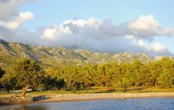 Harbor. Mountains  in Croatia/Dalmacia summer 2015 Stock Photo
