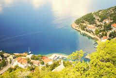 Harbor. Mountains  in Croatia/Dalmacia summer 2015 Royalty Free Stock Photos