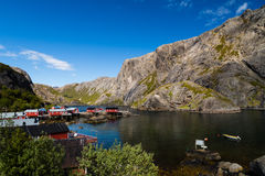 Harbor in the mountains in Norway Royalty Free Stock Photos