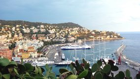 Harbor in Nice, France. Harbor in the city of Nice, south of France Stock Photo