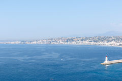 Harbor in Nice, France on the French Riviera Royalty Free Stock Images